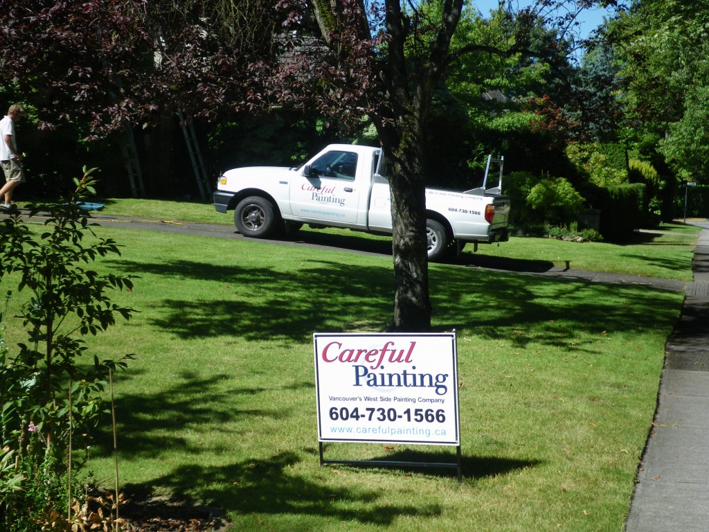 Careful Painting At Work in Shaughnessy, Vancouver