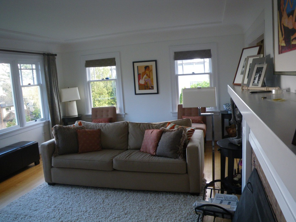 Interior Painting in West Point Grey, Vancouver -Living Room